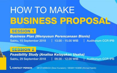"PELATIHAN ""HOW TO MAKE BUSINESS PROPOSAL"""