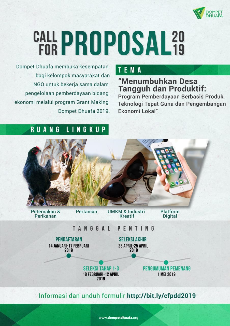 Call For Proposal 2019 Dompet Dhuafa